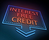 Interest free credit concept. Stock Photo