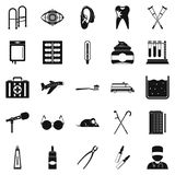 Interest icons set, simple style Stock Images