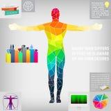 Interest  man development progress, vector. Illustration Royalty Free Stock Image