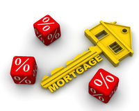Interest on the mortgage Royalty Free Stock Photos