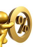 interest procenthastighet nolla Arkivfoton