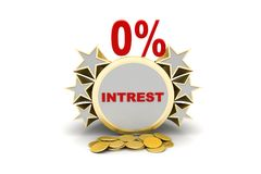 Interest rate banner Royalty Free Stock Photo
