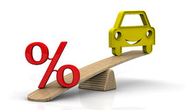 The interest rate on the car loan. Concept Stock Photos