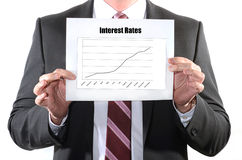 Interest Rate Hikes. Interest Rate Hike or rising concept Stock Photo