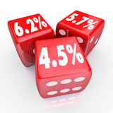 Interest Rate Percent Numbers Three Red Dice Refinance Debt Cred Royalty Free Stock Image