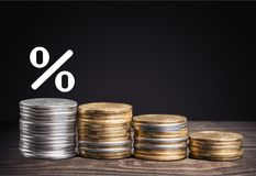 Interest. Rate up fed chart mortgage business Stock Photos