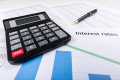 Interest Rates Royalty Free Stock Photography