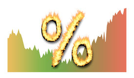 Interest rates concept. On white background Stock Photography
