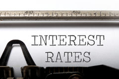 Interest rates Royalty Free Stock Image