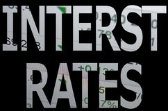 Interest rates Stock Image