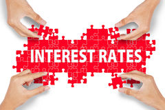 Interest Rates Puzzle Royalty Free Stock Photos