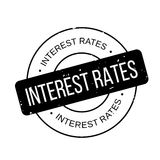 Interest Rates rubber stamp. Grunge design with dust scratches. Effects can be easily removed for a clean, crisp look. Color is easily changed Stock Images