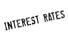 Interest Rates rubber stamp. Grunge design with dust scratches. Effects can be easily removed for a clean, crisp look. Color is easily changed Royalty Free Stock Images