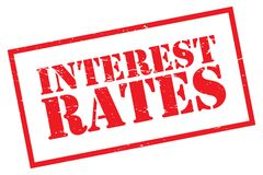 "Interest rates. A rubber stamp with the text ""interest rates Stock Image"