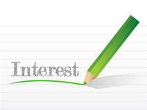 Interest written on a notepad paper Stock Photos