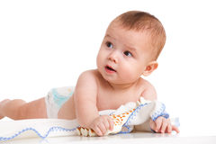 Interested baby Royalty Free Stock Photo