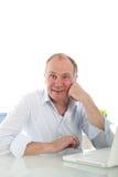 Interested enthusiastic businessman Stock Image