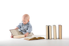 Interested in watching a child book Stock Images