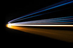 Abstract car light trails royalty free stock photography