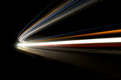 Abstract car light trails stock image