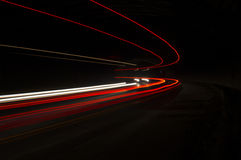 Interesting and abstract lights in orange Stock Photography