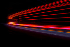 Interesting and abstract lights in orange, red and blue Royalty Free Stock Images