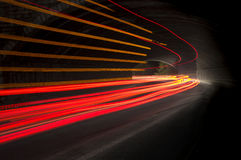 Interesting and abstract lights in orange, red and white Royalty Free Stock Photo