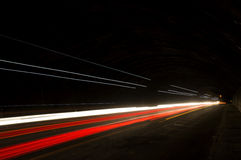 Interesting and abstract lights in orange, red and white Royalty Free Stock Photography