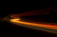 Interesting and abstract lights in orange, red, yellow and white Royalty Free Stock Photos