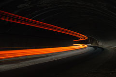 Interesting and abstract lights in orange, red, yellow and white Royalty Free Stock Photography