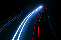 Interesting and abstract lights in red and blue royalty free stock photo