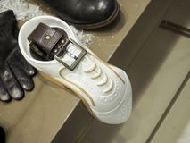 Men`s shoes and belt. Men`s Accessories stock photography