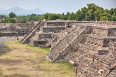 Pyramid building of Teotihuacan royalty free stock image