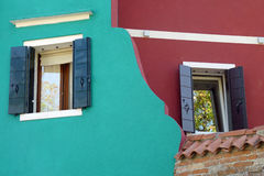 Interesting Architecture in Burano Royalty Free Stock Photo