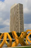 Interesting architecture and sculptures,Empire State Plaza on State Street in Capitol Park,Albany,2015 Royalty Free Stock Photo