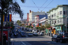 El Castro District, San Francisco, California- USA. An interesting area in SF that makes you understand  the LGTB movement and why this is a sanctuary for the Royalty Free Stock Photos