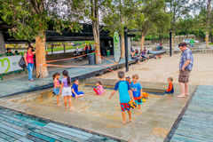 Interesting Barefoot Park in Medellin city Stock Photography