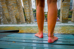 Interesting Barefoot Park in Medellin city Royalty Free Stock Photography