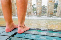 Interesting Barefoot Park in Medellin city Stock Image