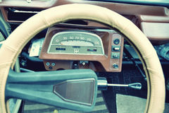 Interesting beautiful design of retro car with original wheel dr Royalty Free Stock Photography