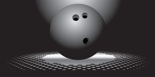 Interesting bowling ball Royalty Free Stock Photography