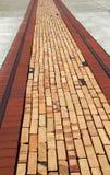 Interesting brick walkway Stock Images