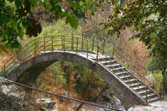 Interesting bridge on area of Noravank monastery Royalty Free Stock Images