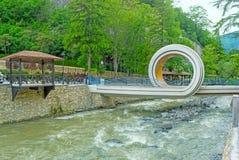 The interesting bridge in Borjomi Stock Images