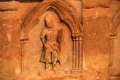 Interesting carvings on Sarcophagus Royalty Free Stock Images