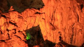 Interesting cave in the limestone mountains. An interesting cave in the limestone mountains stock video footage