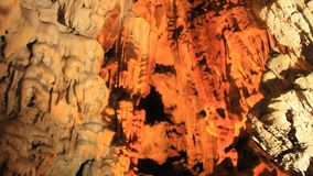 Interesting cave in the limestone mountains. An interesting cave in the limestone mountains stock video