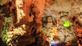 Interesting cave in the limestone mountains. An interesting cave in the limestone mountains stock footage