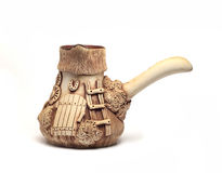 Interesting clay jug made ��by hand Stock Image