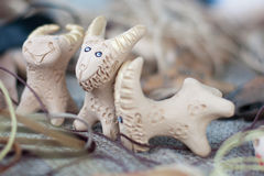 Interesting clay whistles Stock Images